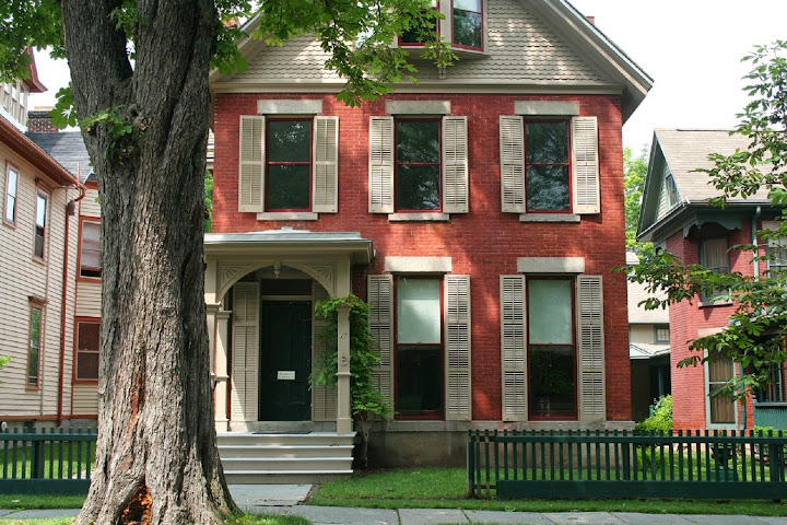 Susan B Anthony house and tree. From 100 Places in the USA Every Woman Should Go