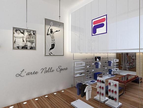 0b8120515 A marca italiana de artigos esportivos Fila inaugurou uma loja-conceito na rua  Oscar Freire