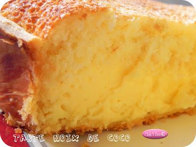 Tarte à la noix de coco - recette indexée dans la rubrique Desserts