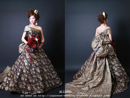 Wedding Gowns Site Aliansa S Modern Kimono Fabric Wedding
