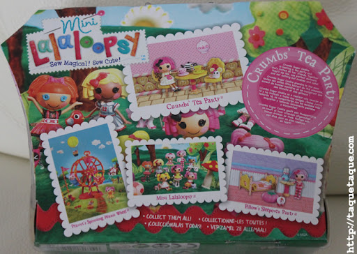 parte posterior de la caja del juego (playset) Crumbs' tea party de las mini Lalaloopsy