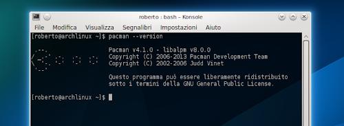 Pacman 4.1.0 su Arch Linux