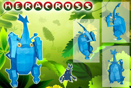 Pokemon Heracross Papercraft
