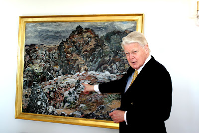 President of Iceland at his residence in Reykjavik