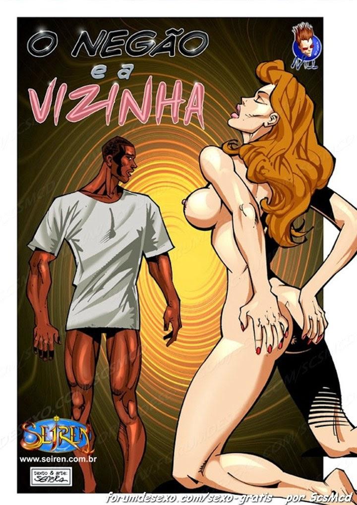 LA VECINA DEL NEGRO, cómic porno interracial. Página 01.