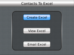 Contacts to Excel v3.2 BlackBerry Apps