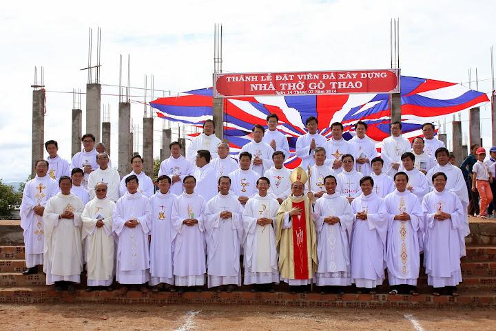 Hình ảnh lễ đặt viên đá xây dựng nhà Thờ Gò Thao