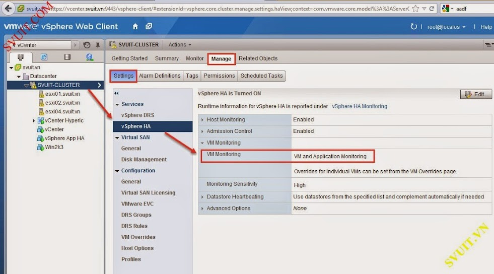 monitor service with vSphere app Ha (1)