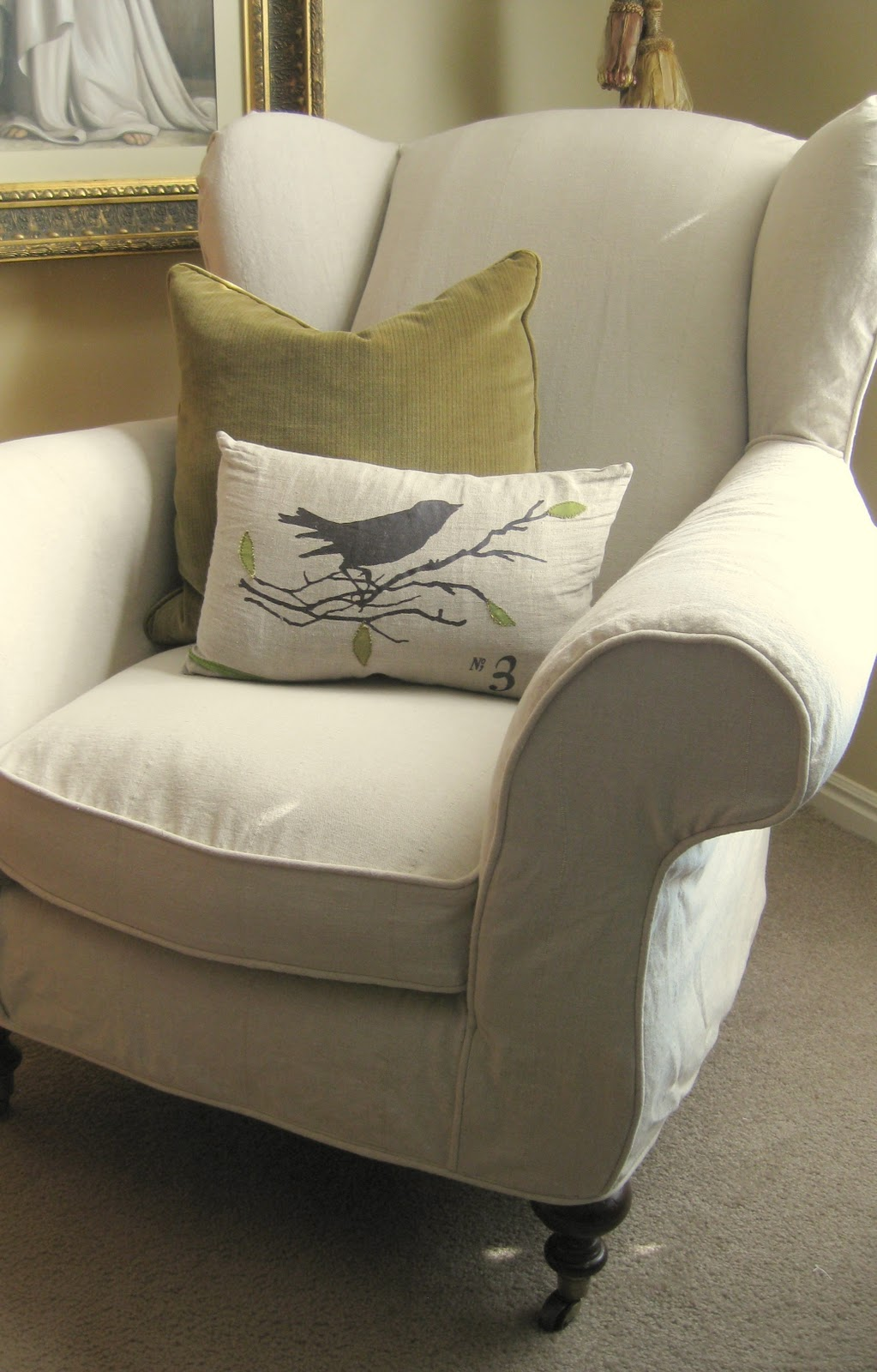 wingback chair - Slipcover For Wingback Chair