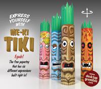 Me-ki Tiki Paper Toy