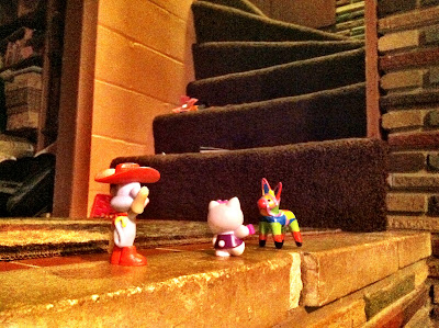 toys, play, stairs, pose, carpet, stone