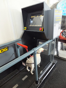 Rent-a-dog arcade machine in the Under The Pier Show