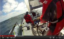 J/125 offshore racer TIMESHAVER sailing fast