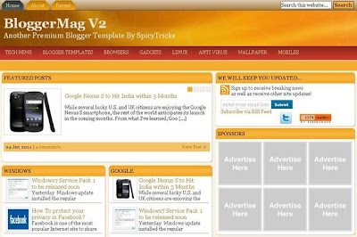 Template Magazine Blogspot 2012