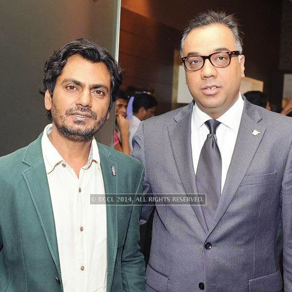 Nawazuddin Siddiqui and Jatin Khanna during a Cancer campaign, held at JW Marriott, in Pune.