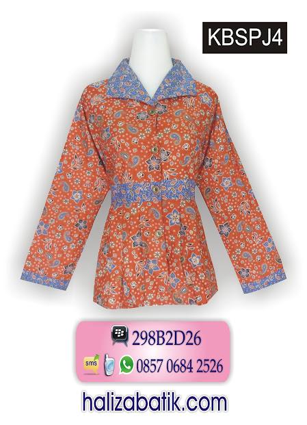 Grosir Batik Pekalongan, Model Baju Terbaru, Model Batik Kombinasi, Contoh Batik Modern