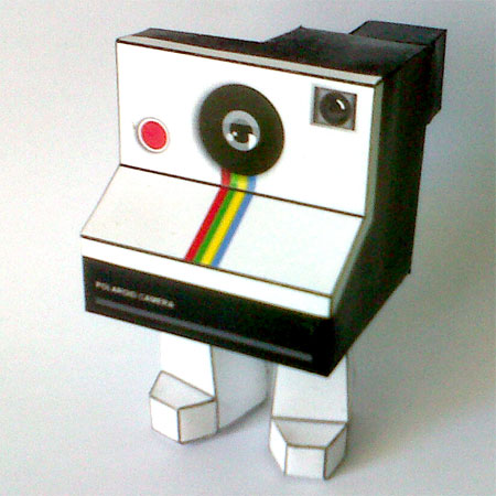 Polaroid Paper Toy