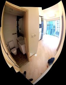 View from doorway
