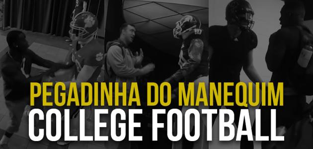 Pegadinha do manequim no futebol americano universitário