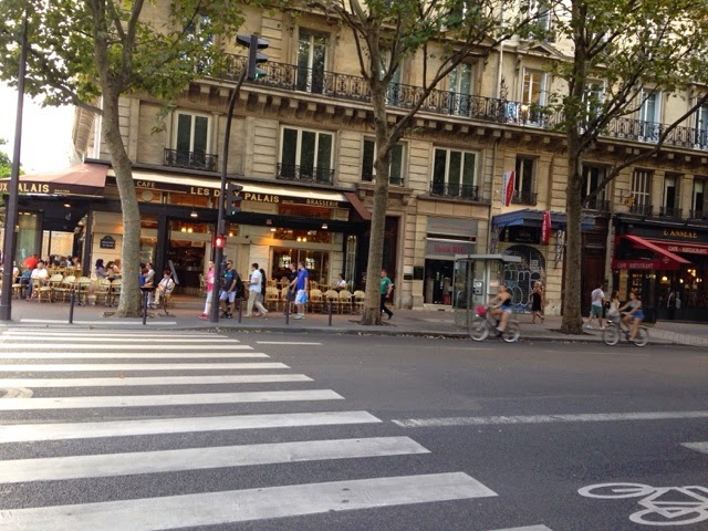 paris, busy street