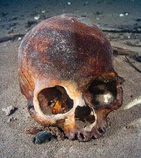 Teschio umano trovato nelle grotte Maya
