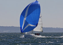 J/70 speedster- sailing with spinnaker fast