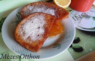 édes fahéjas bundáskenyér narancslekvárral fotó