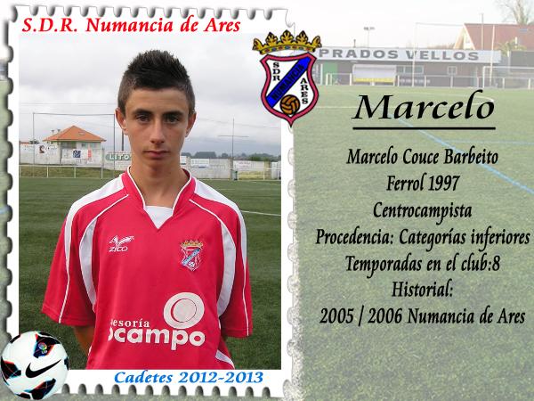 MARCELO, centrocampista equipo cadetes do Numancia.