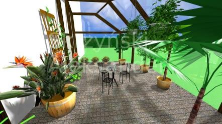 Projekt szklarnia ogród w szklarni