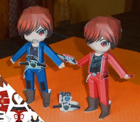 Kamen Rider W Papercraft Ryu Terui