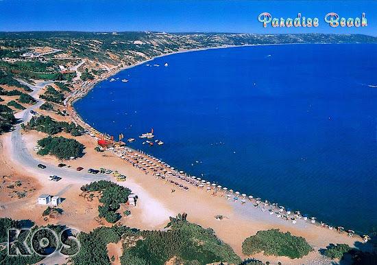 plaża Paradise Beach Kos pocztówka