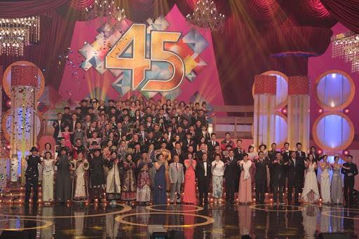 TVB 45周年台慶亮燈