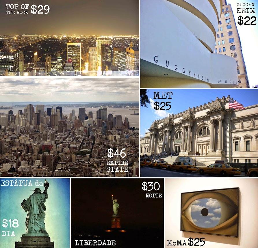 quanto custa viajar nova york passeios museus