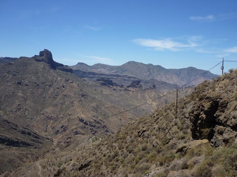 wüstenhafte Gebirgslandschaft in den Bergen Gran Canarias