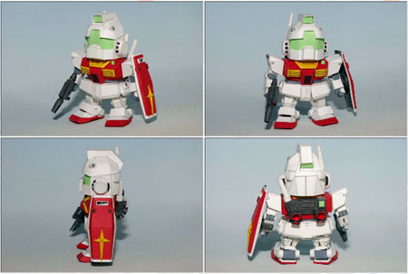 SD RMS 179GM Gundam Papercraft