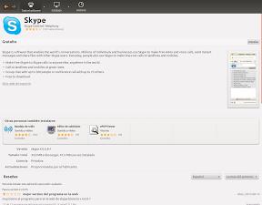 Skype en el Centro de Software de Ubuntu