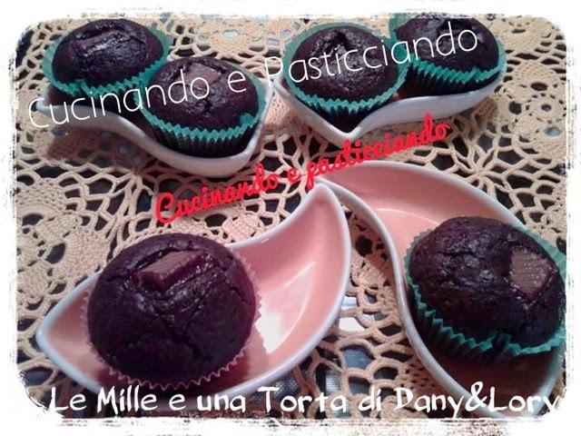 muffin morbidi al doppio cioccolato