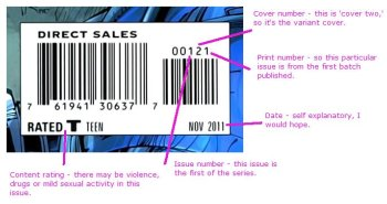 Comic book barcode explanation