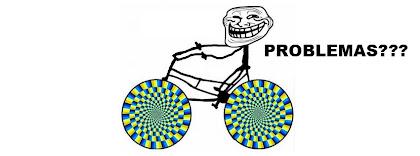 Portada para facebook de Meme en bicicleta