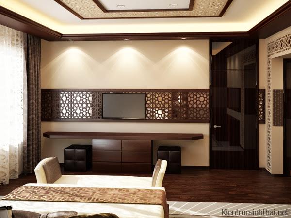 Thiết kế nội thất căn hộ theo phong cách xưa với những họa tiết , hoa văn truyền thống