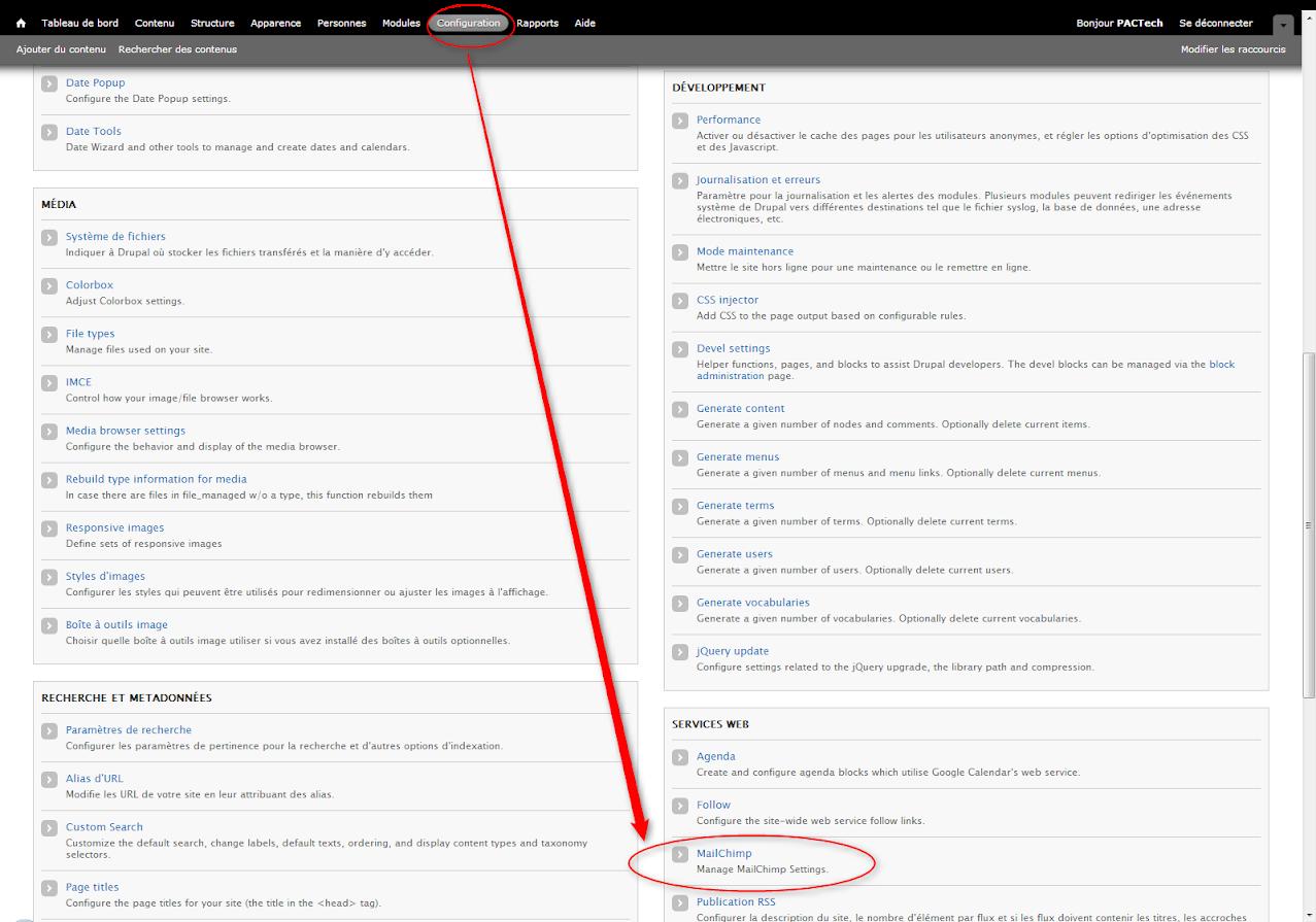 Mailchimp Module Drupal NewsLetter Emailing ExpertE Formation RougeOrangeVert