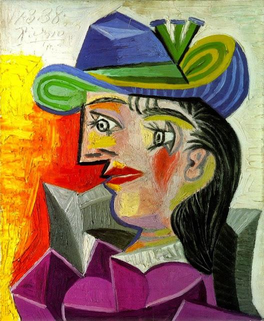 Pablo Picasso - Femme au chapeau bleu-1938