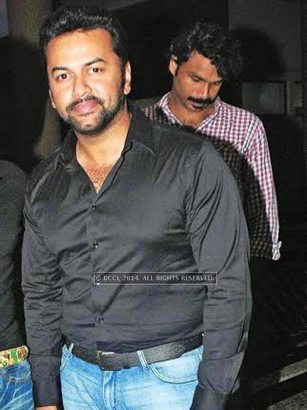 Indrajith spotted at the star studded celebrity cricket launch in Kochi.