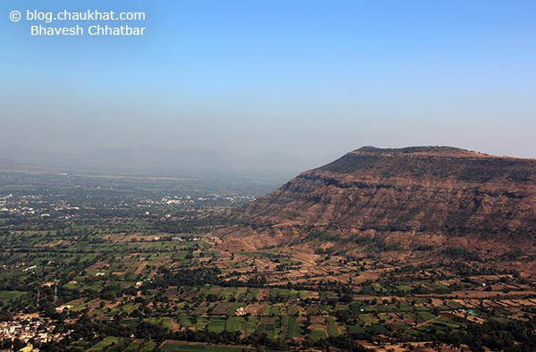 Breathtakingly beautiful panoramic view from Harrison's Folly near Panchgani hill station