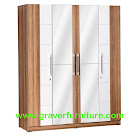 Lemari Pakaian 4 Pintu Graver Furniture