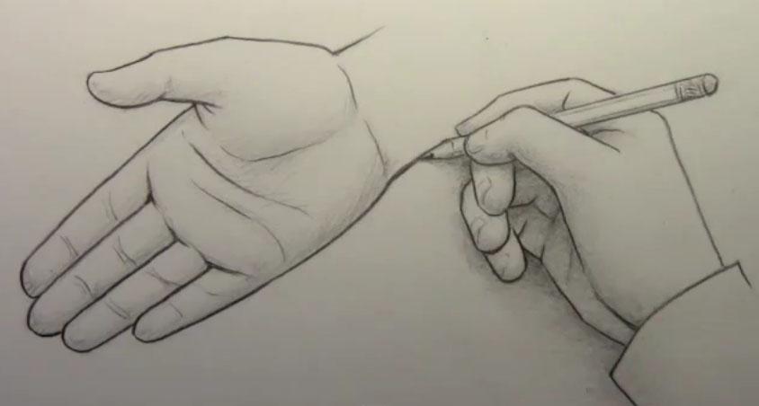 Как рисовать руки, часть 2