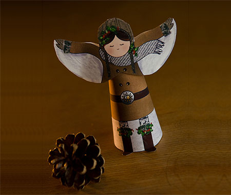 Winter Solstice Snow Angel Papercraft