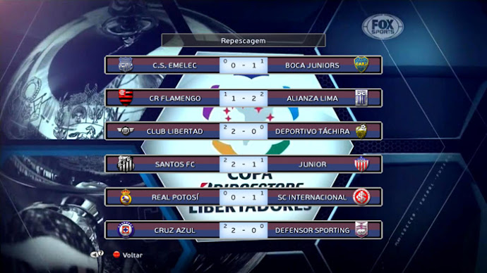 Scoreboard Libertadores Fox Sports - PES 2013