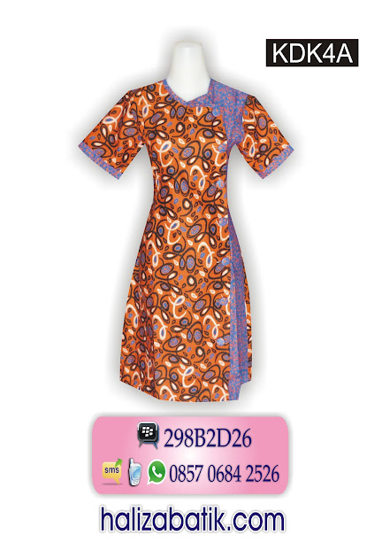 grosir batik pekalongan, Dress Batik, Model Dress, Baju Dress Batik, KDK4A