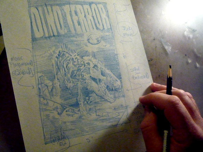 T-Rex Skeleton Sketch © 2012 Jeff Lafferty